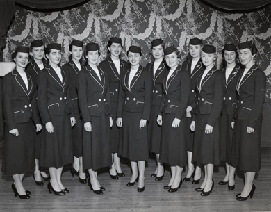 Newly minted NWA Stewardesses May, 1956